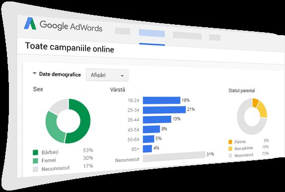 Campanii prin reteaua de display GDN / agentie online