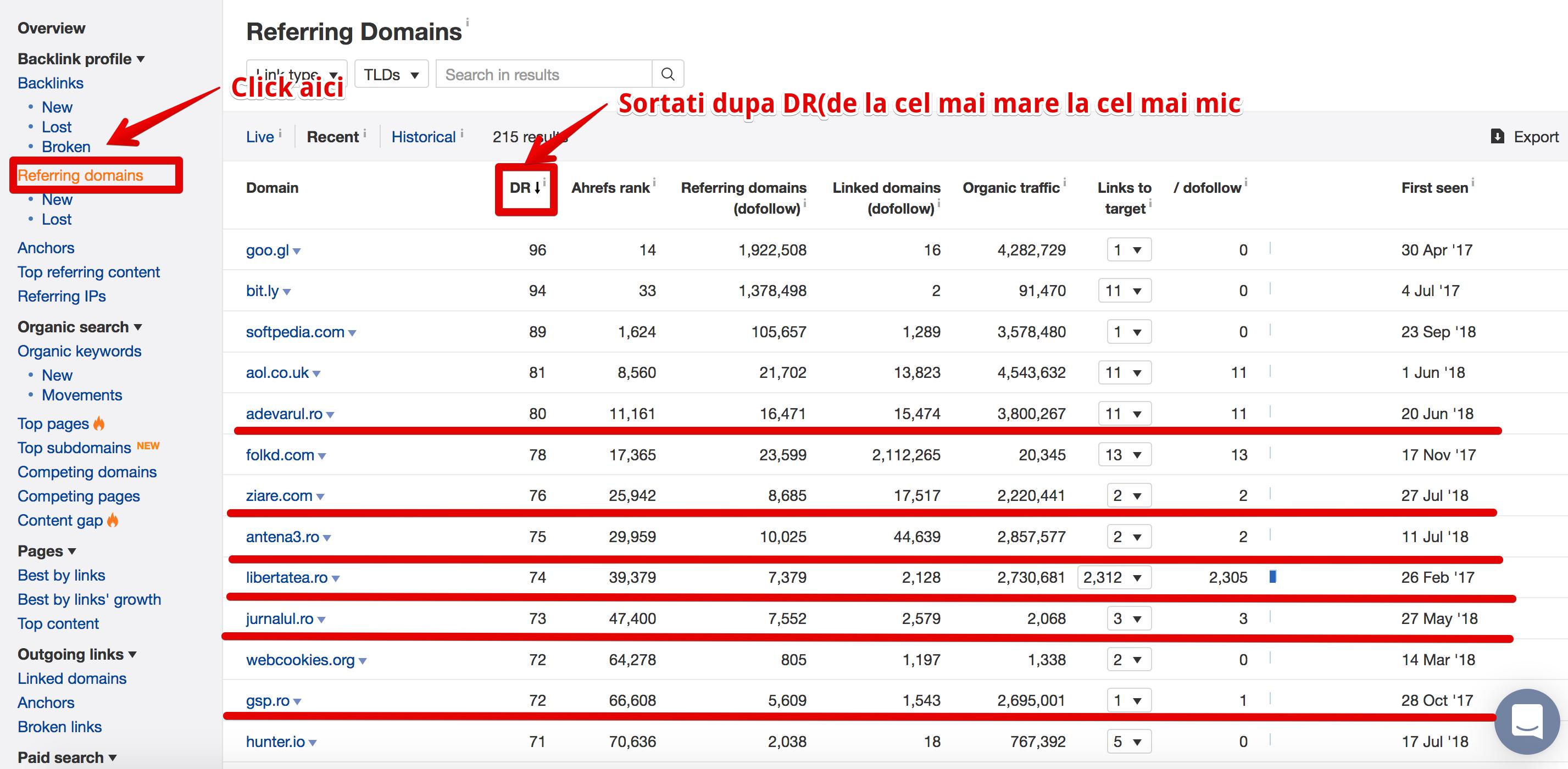 calitatea backlinkurilor - campanie seo