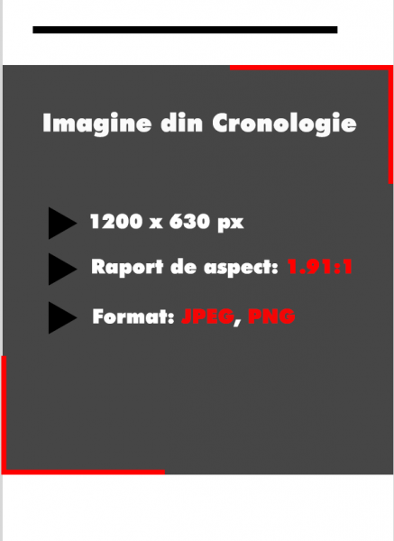 Dimensiune imagine de cronologie Facebook