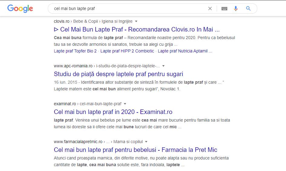 cel mai bun lapte praf - rezultate google site de afiliere 1