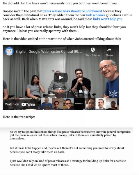 comunicat google backlinkuri