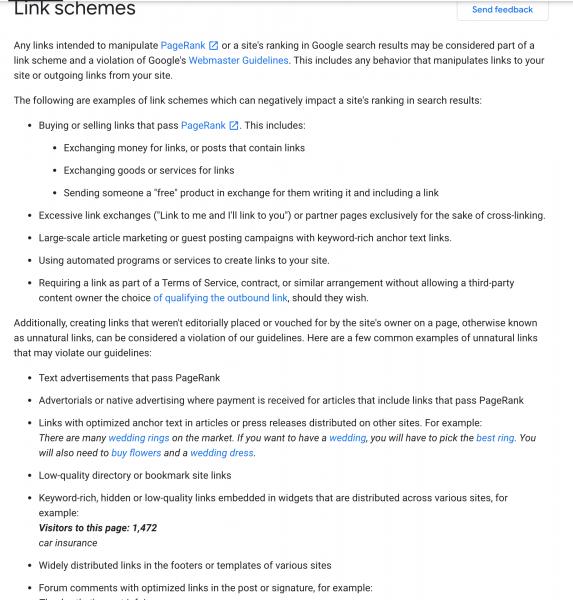 scheme de link-uri interzise